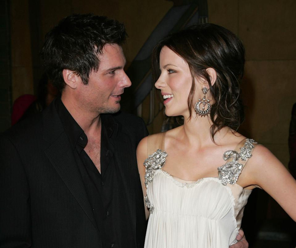 """October 26th, 2016:  Len Wiseman files for divorce from Kate Beckinsale. Here, file photo: Photo by: Jano/STAR MAX/IPx 2008 2/28/08 Kate Beckinsale and Len Wiseman at the premiere of """"Snow Angels"""". (Los Angeles, CA)"""