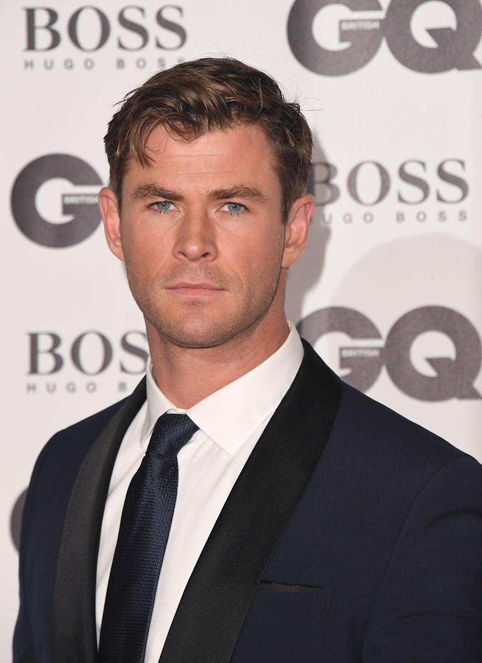 <p>Even without any facial hair, there's no denying that Hemsworth has superhero good looks. Lucky man.</p>