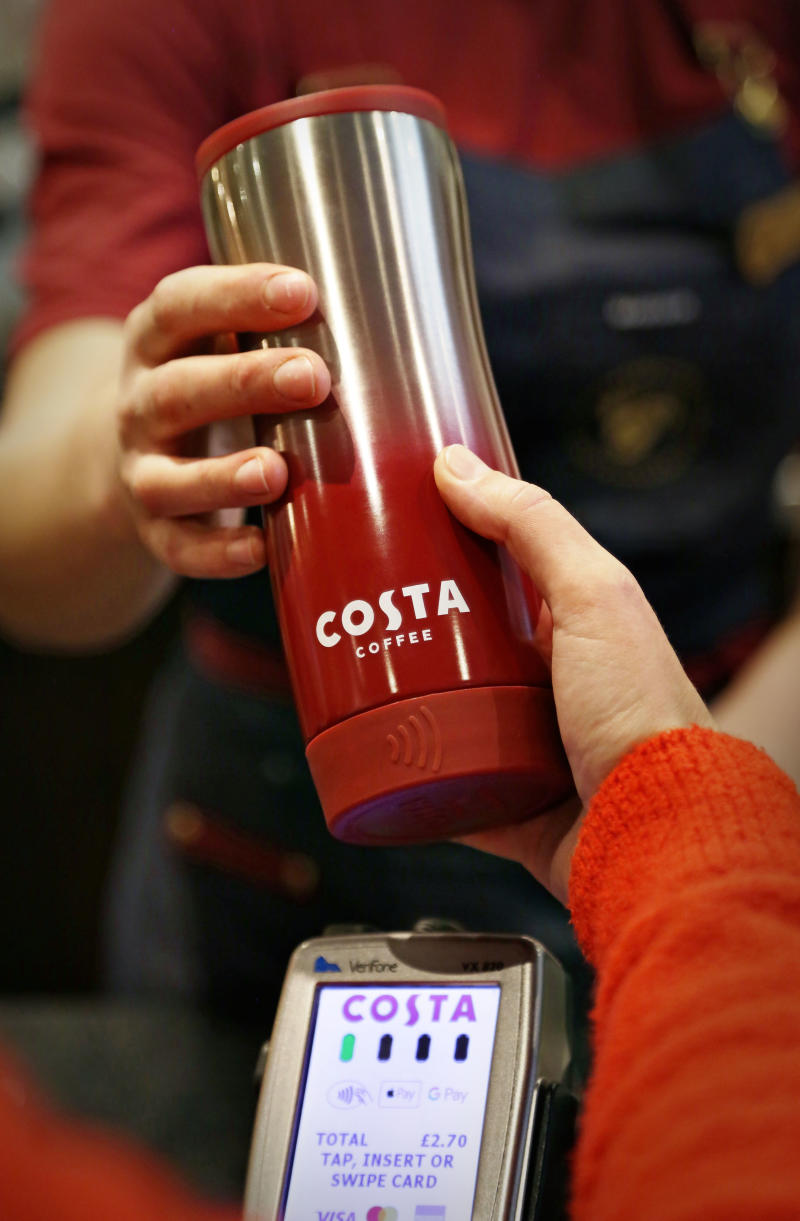 Costa Coffee launches contactless reusable Clever Cups