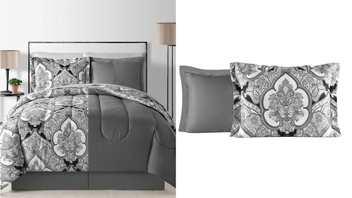 This reversible comforter is super sleek and comfy, according to buyers.