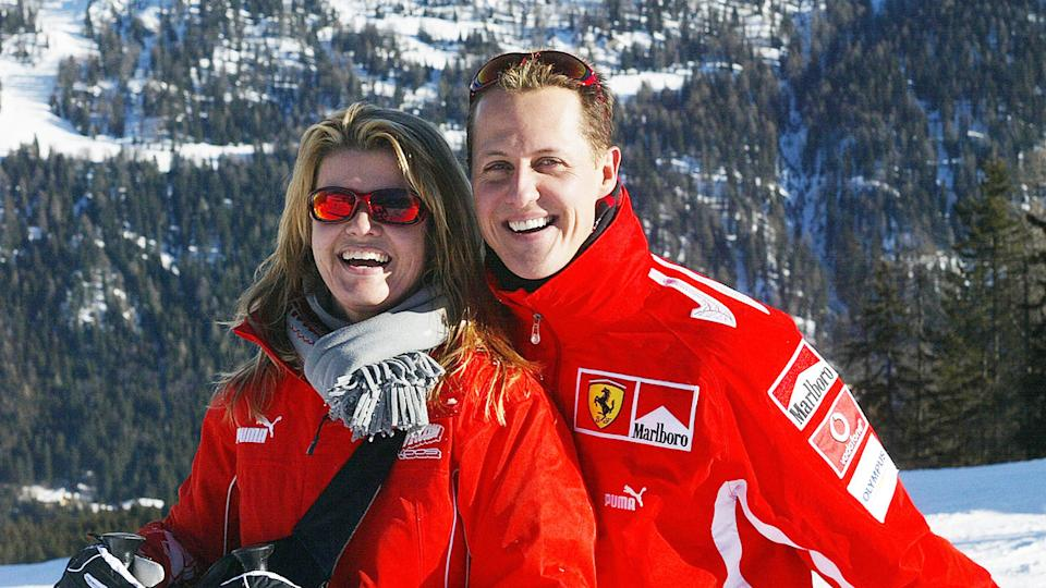 Michael Schumacher, pictured here with his wife Corinna. Pic: Getty