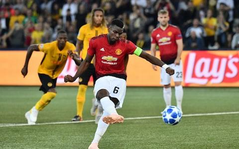 Pogba struck twice against Young Boys in midweek - Credit: AFP