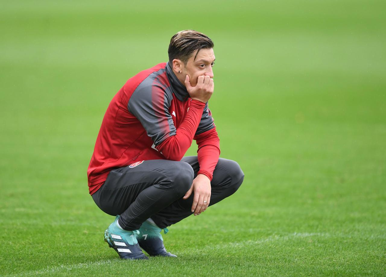 Mesut Ozil back in Arsenal training ahead of West Brom clash