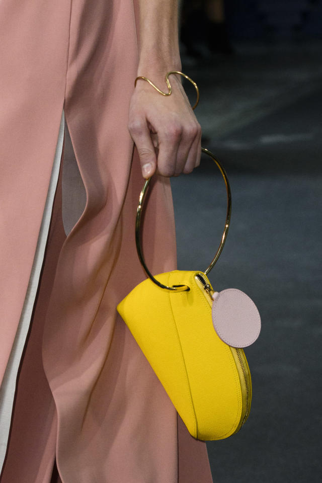<p><i>Yellow mini-handbag from the SS18 Roksanda collection. (Photo: ImaxTree) </i></p>