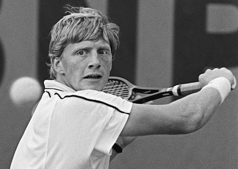"The six-times Grand Slam winner, nicknamed ""Boom Boom"" Becker for his devastating serve, won 49 titles and more than 20 million euros in prize money during his career (AFP Photo/STF)"