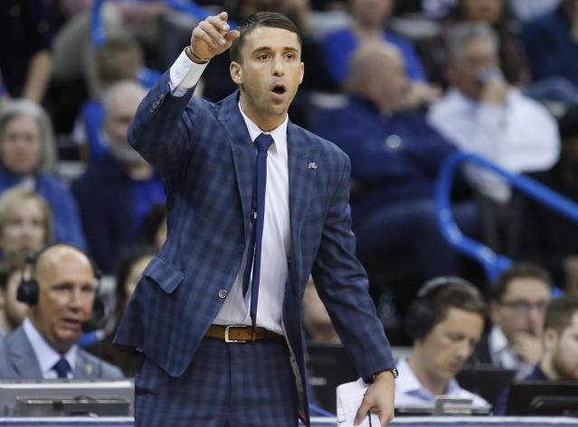 Ryan Saunders led the Timberwolves to a tight victory in his coaching debut. (AP Photo)