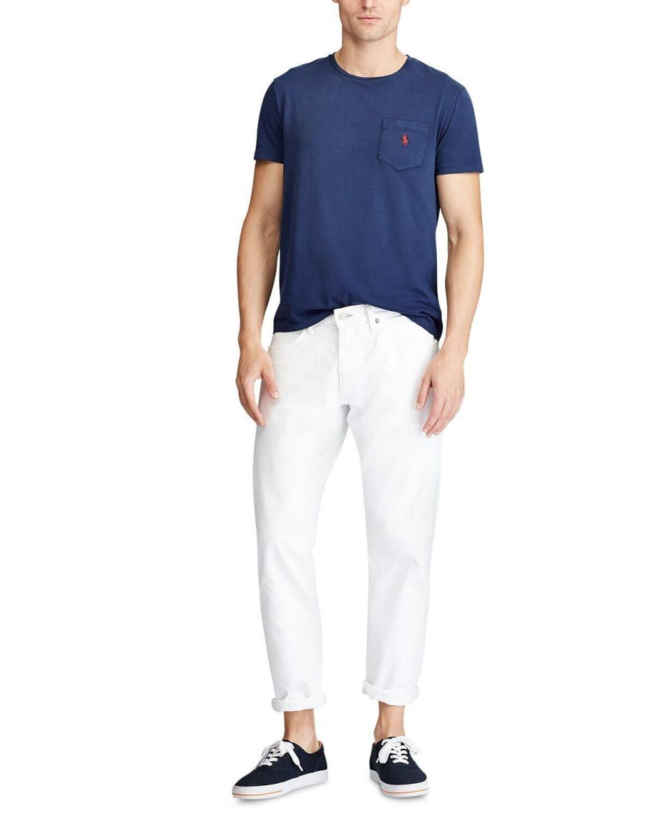 """With almost 300 reviews, these jeans are a customer favorite at Macy's. If you're not feeling like white jeans, don't worry. This pair comes in nine different colors. <strong><a href=""""https://fave.co/36JX8i6"""" target=""""_blank"""" rel=""""noopener noreferrer"""">Find this pair at Macy's</a></strong>."""