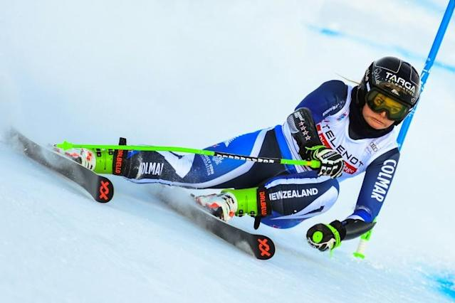 New Zealand's Alice Robinson produced a superb second run in Kranjska Gora (AFP Photo/Miguel MEDINA)