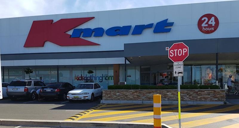 Photo of 24 hour Kmart in Waratah, Newcastle, after needle in car park nearly pricked two-year-old.