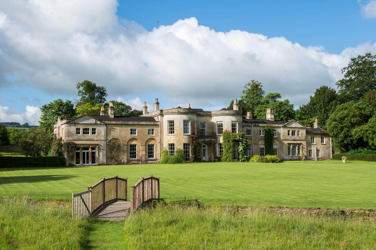 <p>A sprawling Georgian mansion that provided the backdrop to hit TV show the Great British Bake Off was put on the market for £5 million. Harptree Court, near Bristol, is an impressive nine bedroom property with seven bathrooms, currently being run as a bed and breakfast. (Caters News Agency) </p>