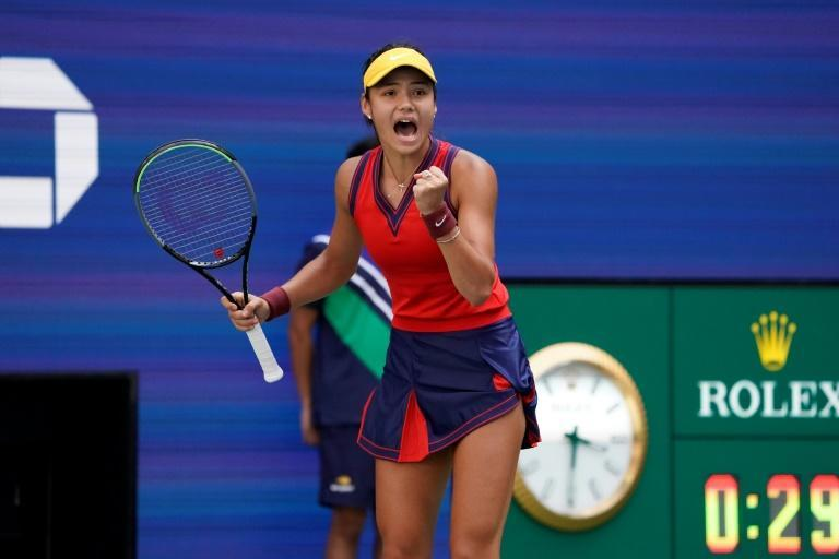 Britain's Emma Raducanu hasn't dropped a set after making her Slam debut with a fourth-round run at Wimbledon (AFP/TIMOTHY A. CLARY)
