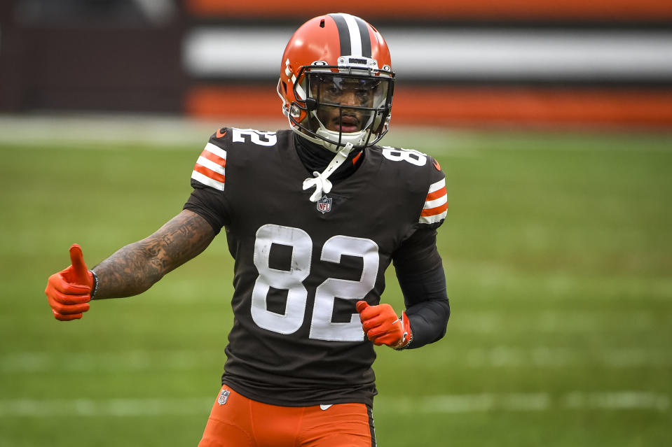 Cleveland Browns receiver Rashard Higgins