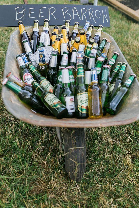 """<p>A 'Beer Barrow' is the perfect way to give your street party a chic rustic feel. <i><a href=""""https://uk.pinterest.com/pin/366128644687751566/"""" rel=""""nofollow noopener"""" target=""""_blank"""" data-ylk=""""slk:[Photo: Pinterest]"""" class=""""link rapid-noclick-resp"""">[Photo: Pinterest]</a></i></p>"""