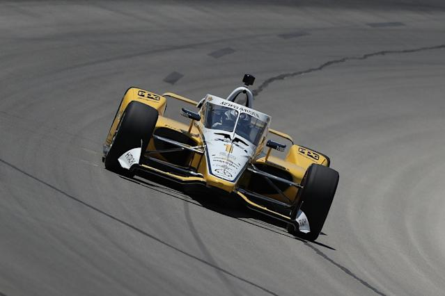 Newgarden takes pole for IndyCar opener as Sato crashes