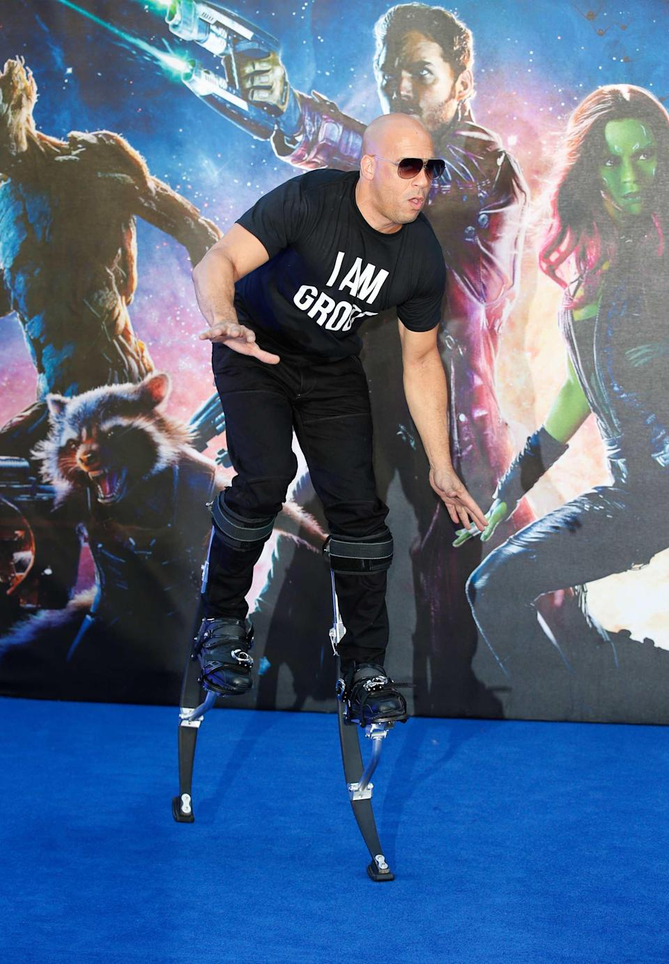 Vin Diesel at Guardians of the Galaxy Premiere
