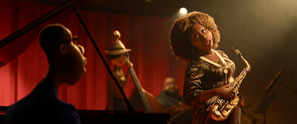 Gardner gets the chance of a lifetime to play the piano in a jazz quartet headed by the great Dorothea Williams. (© 2020 Disney/Pixar. All Rights Reserved. )