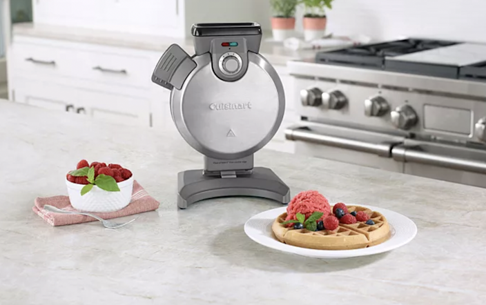 This space-saving waffle maker will be your go-to breakfast gadget every morning.