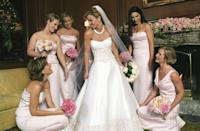<p>Trista Rehn didn't find love on season 1 of <em>The Bachelor, </em>but she did as <em>The Bachelorette. </em>Trista met Ryan Sutter and the two got married in a romantic ceremony, which was of course televised. The bride wore a strapless satin A-line gown with blush beading at the bodice and bottom hemline. </p>