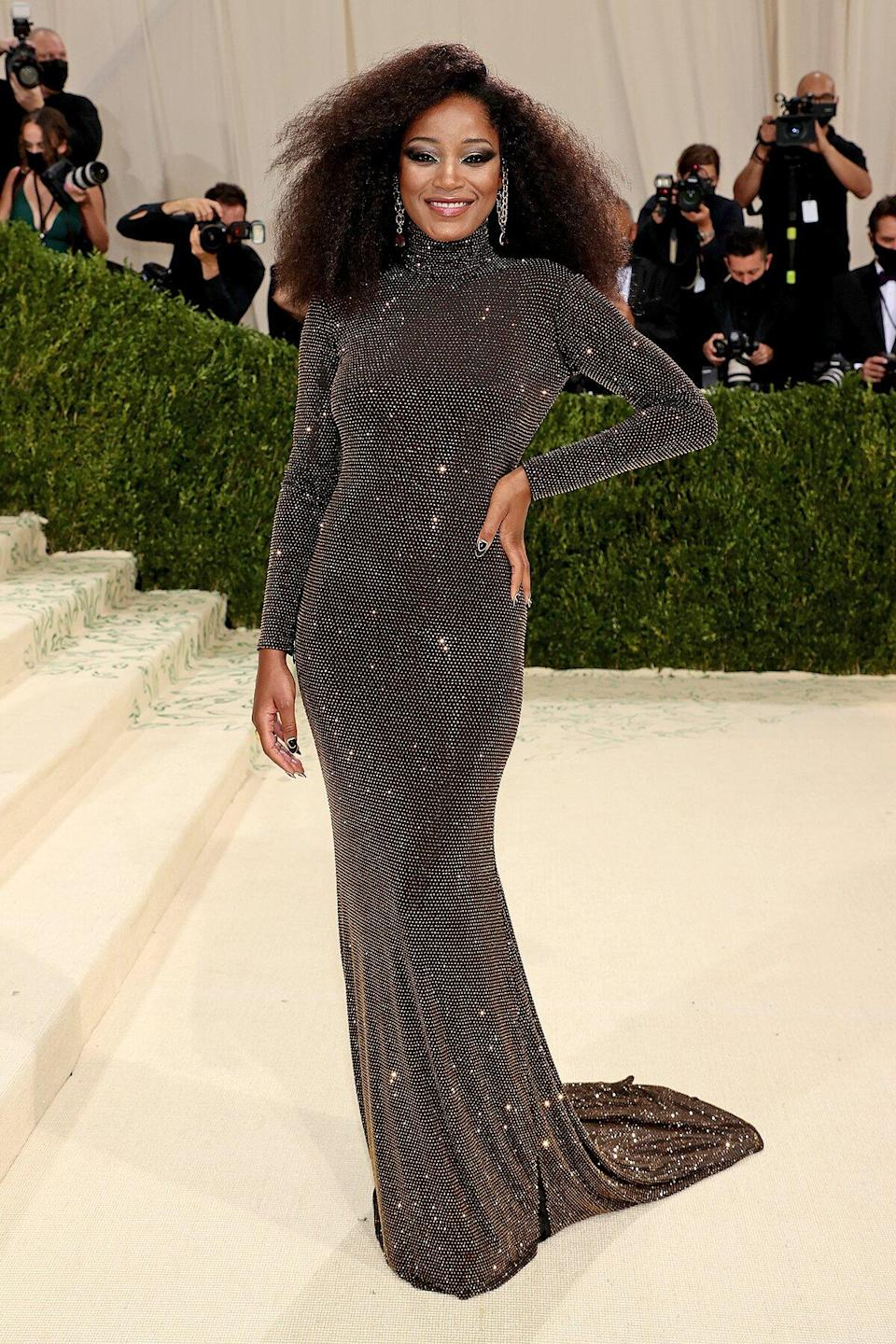 Keke Palmer attends The 2021 Met Gala Celebrating In America: A Lexicon Of Fashion at Metropolitan Museum of Art on September 13, 2021