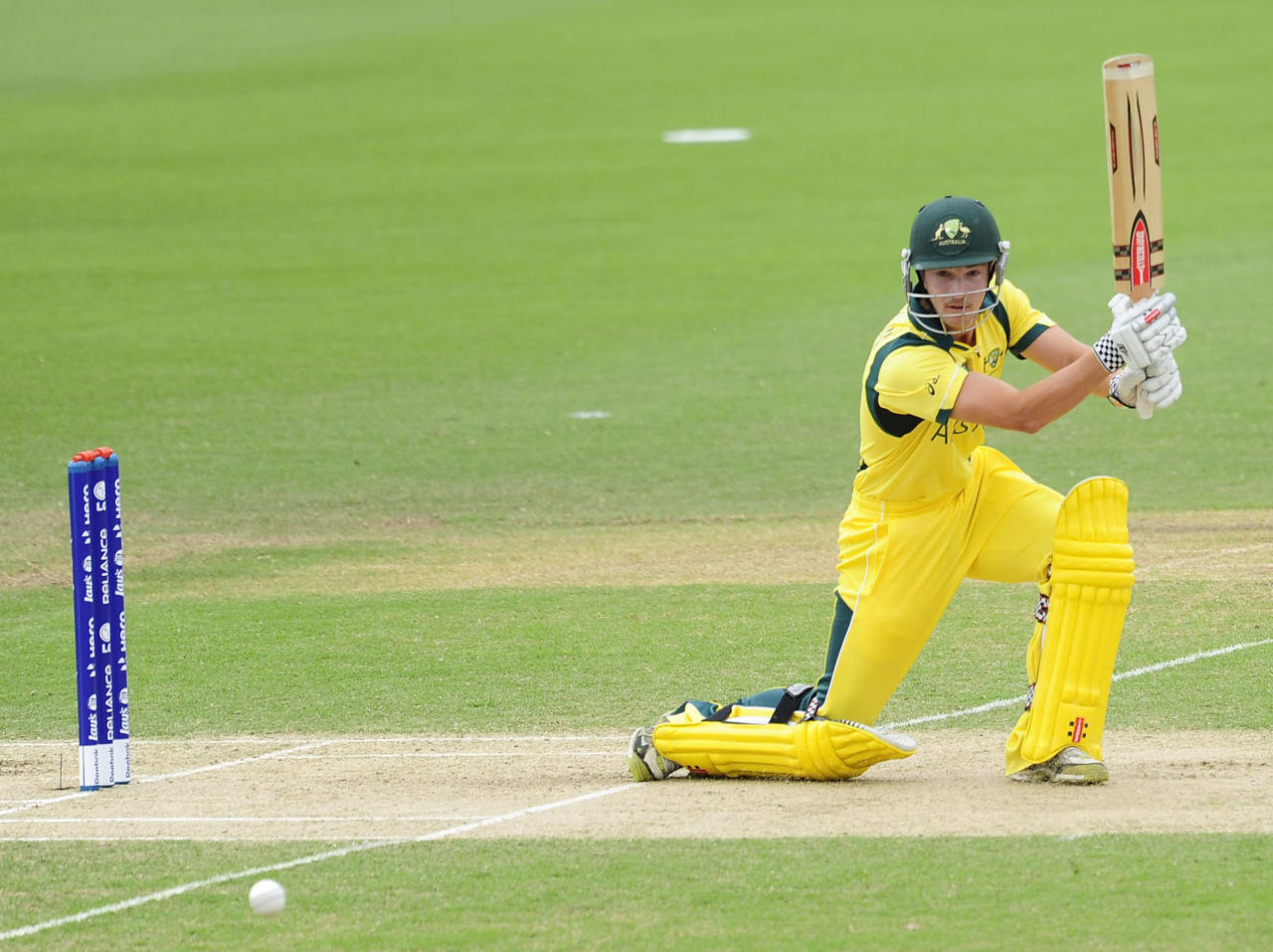 TOWNSVILLE, AUSTRALIA - AUGUST 26:  Meyrick Buchanan of Australia bats during the 2012 ICC U19 Cricket World Cup Final between Australia and India at Tony Ireland Stadium on August 26, 2012 in Townsville, Australia.  (Photo by Ian Hitchcock-ICC/Getty Images)