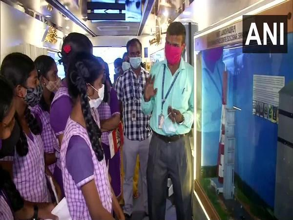 Visuals from ISRO exhibition in Chennai (ANI)