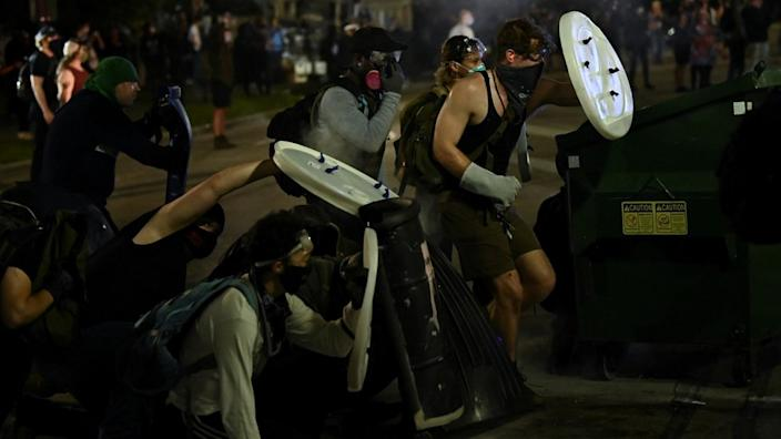 Kenosha, in the state of Wisconsin, has seen three nights of unrest
