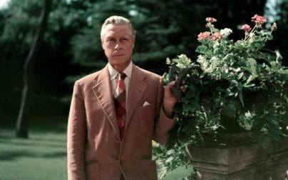 The Duke of Windsor at a villa at Biarritz, France