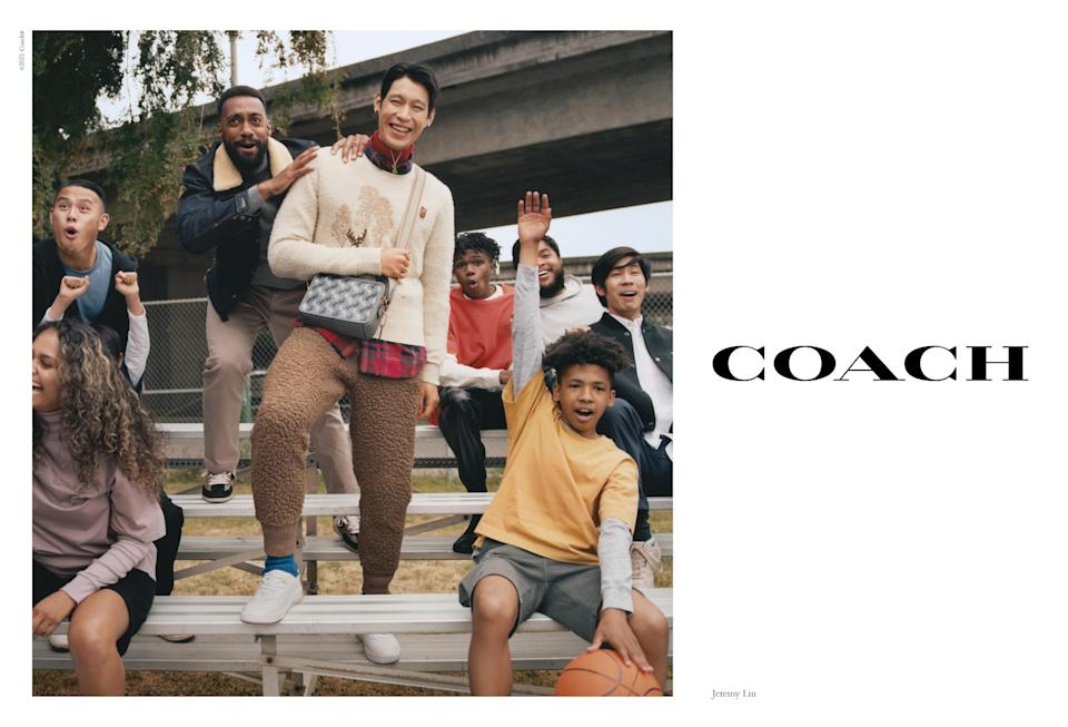 Jeremy Lin models in Coach's fall 2021 campaign. - Credit: Coach/Renell Medrano