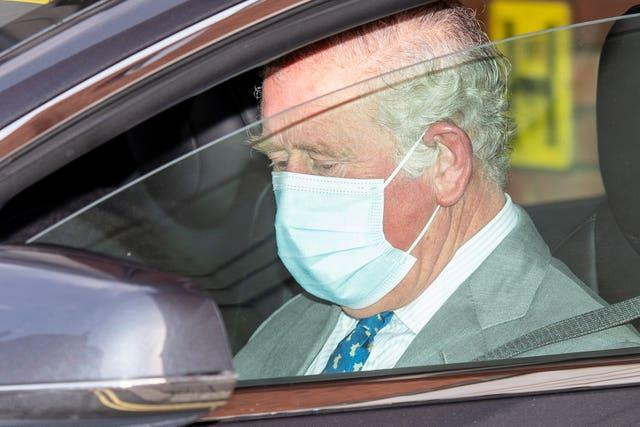 The Prince of Wales visited his father at the King Edward VII Hospital in London on Saturday (Dominic Lipinski/PA)