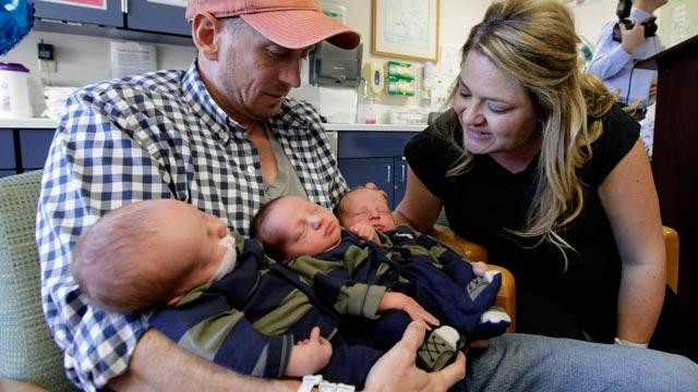 Triplets Smash Guinness Weight Record