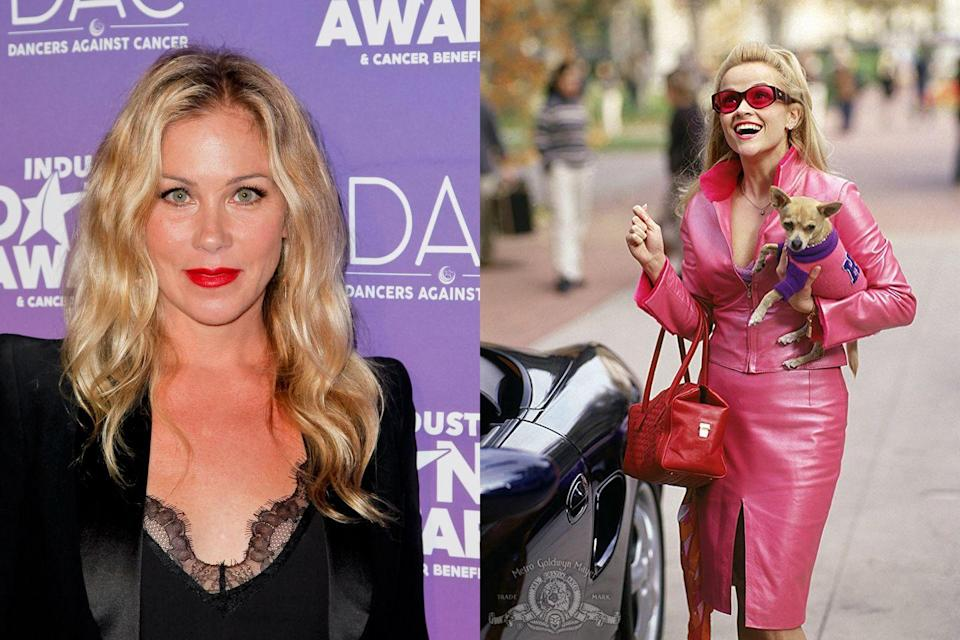 """<p>Applegate admitted that she received the script for <em>Legally Blonde</em> just after finishing her show <em>Married… With Children</em>, and she was worried Elle Woods was too similar of a role. """"I got scared of kind of repeating myself,"""" she <a href=""""http://www.etonline.com/news/168855_christina_applegate_regrets_turning_down_legally_blonde"""" rel=""""nofollow noopener"""" target=""""_blank"""" data-ylk=""""slk:told Entertainment Tonight"""" class=""""link rapid-noclick-resp"""">told <em>Entertainment Tonight</em></a>, adding, """"What a stupid move that was, right?"""" </p>"""