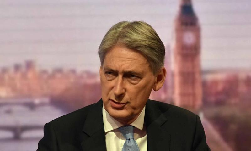 Philip Hammond appearing on the Andrew Marr Show.