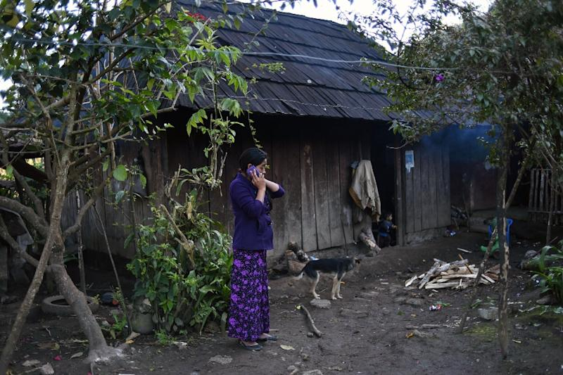 In Yalambojoch village, those without family members sending home remittances from abroad, mostly the United States, live in precarious wooden homes (AFP Photo/JOHAN ORDONEZ)
