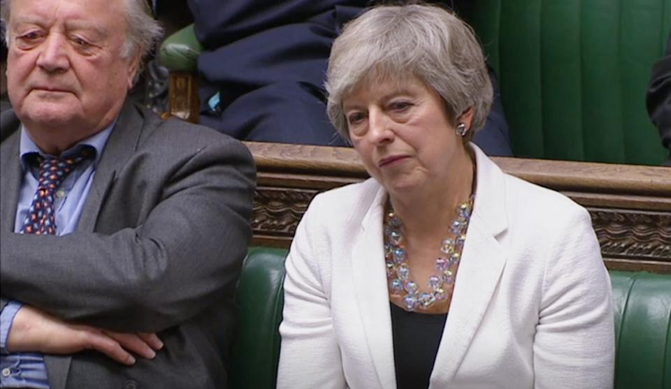 Ken Clarke and Theresa May listen as Shadow Brexit secretary Keir Starmer responds to Brexit Secretary Stephen Barclay's statement on the Government's new Brexit in the House of Commons, London. (Photo by House of Commons/PA Images via Getty Images)