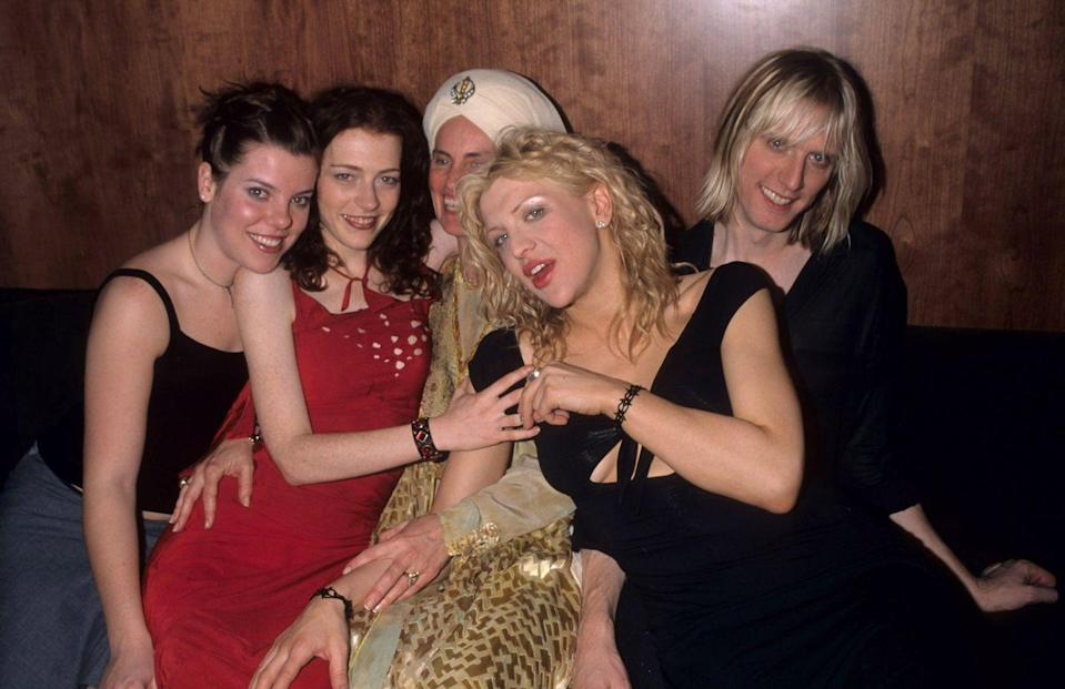 <p>Hole and Courtney Love during Hole in Concert to Benefit the Center for Living at The Viper Room in Los Angeles, CA on January 9, 1999.</p>