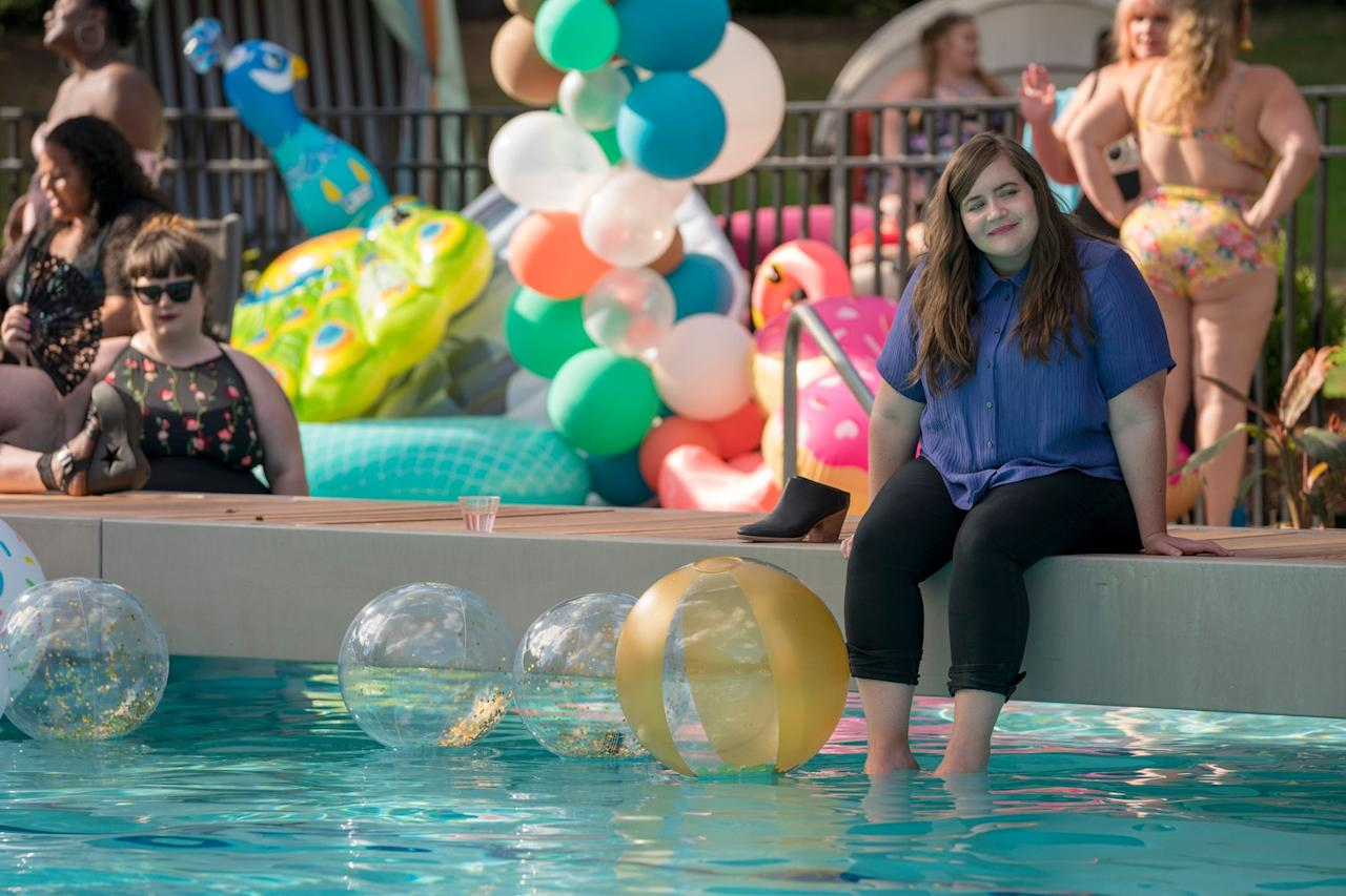 """Shrill is based on Lindy West's memoir and stars <em>Saturday Night Live</em>'s Aidy Bryant as a writer finding her way in a body-shaming world. The first season, sadly, features only six episodes—but good news: a second with more episodes is in the works. <em>Available to stream on</em> <a href=""""https://fave.co/2JWsGIe"""" rel=""""nofollow"""" target=""""_blank""""><em>Hulu</em></a>"""