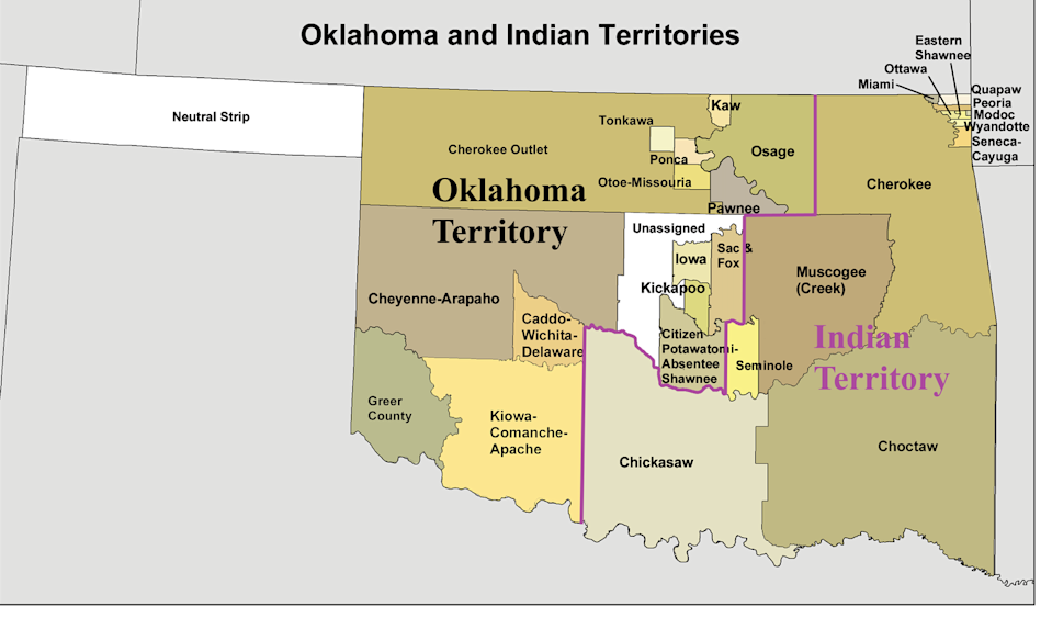 "<span class=""caption"">The eastern part of Oklahoma, about half of the state's total land, was granted by Congress to Native American tribes in the 19th century, and is still under tribal sovereignty, the Supreme Court has ruled.</span> <span class=""attribution""><a class="