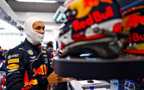 <span>Alexander Albon is driving in his third grand prix for Red Bull this weekend</span> <span>Credit: Getty Images </span>