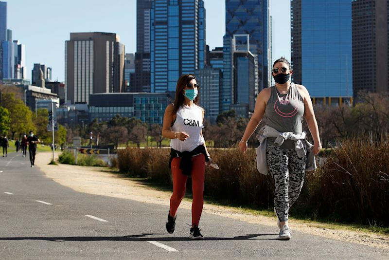 People will be allowed to exercise for two hours a day in Melbourne from September 13.