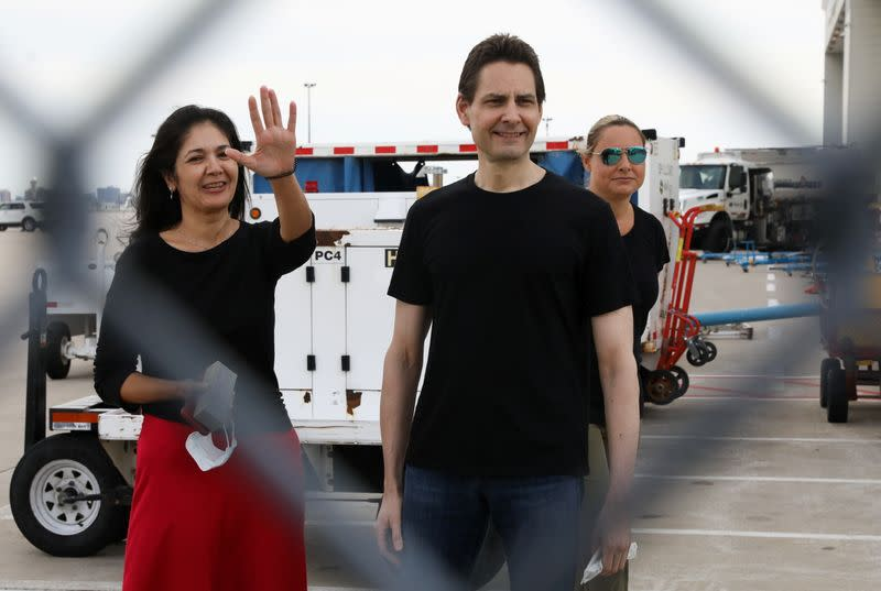 Former diplomat Michael Kovrig arrives on a Canadian air force jet at Pearson International Airport in Toronto
