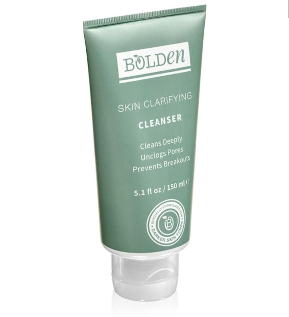 """I've used Bolden Clarifying Cleanser off and on since 2017 — the zinc helps regulate oil to reduce blemishes,"" said <a href=""https://www.ijeomakola.com/"">Ijeoma Kola</a>, a public health researcher and lifestyle blogger. ""It's also paraben-free, which is the gold standard for beauty these days, and the company is owned by two Nigerian women."" The entire collection of Bolden products is also sulfate-free and features a range of cleansers, toners and kits to tackle specific skin issues such as acne or dark spots. <br /><br /><a href=""https://yhoo.it/2Z6brvX"" target=""_blank"" rel=""noopener noreferrer""><strong>Bolden Skin Clarifying Cleanser, $16.50</strong></a>"