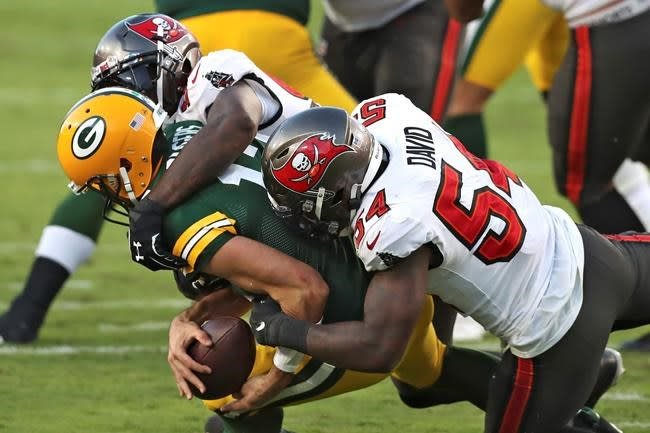 Rodgers, Packers sputter against stingy Buccaneers defence
