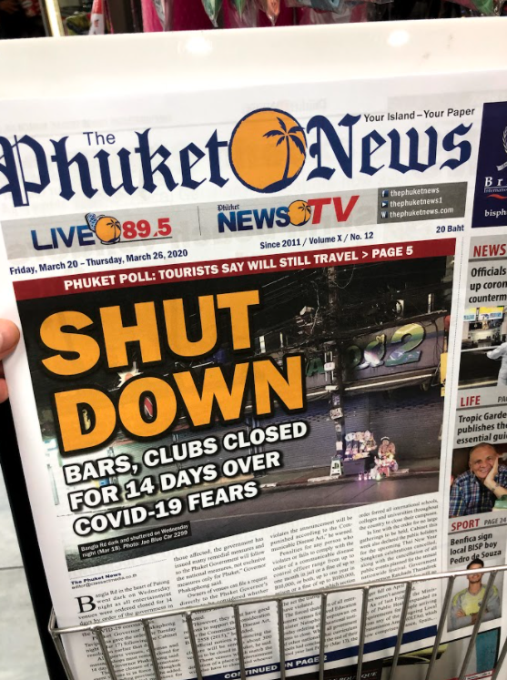 A strict curfew came into place in Thailand - with rules enforced by law. (Daniel Worthington)