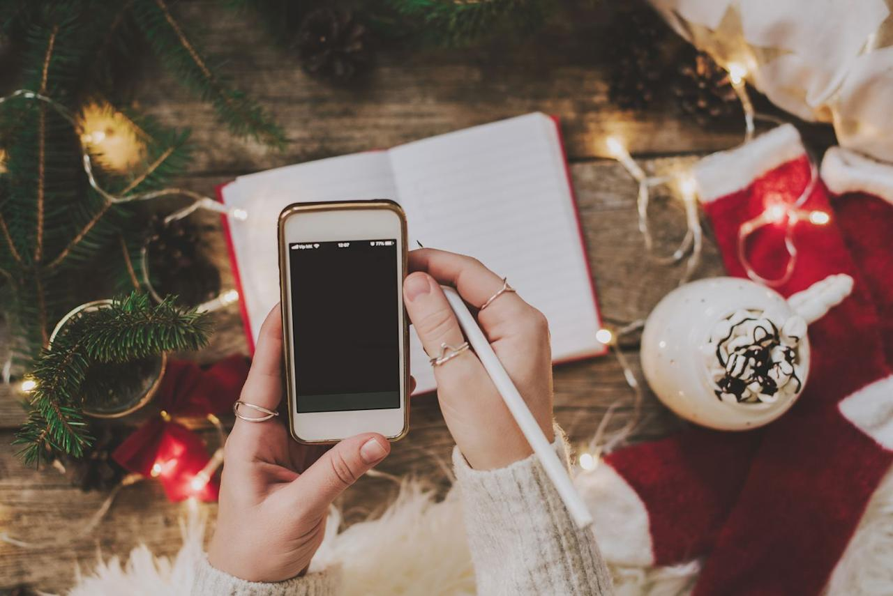 """<p>One of the biggest stressors of holiday shopping is overspending, so be sure to create a budget before you hit the stores. First, figure out the total you can afford to spend on gifts. Then, make a list of the people you'd like to give to and allocate portions of your budget toward each person. Apps like <a href=""""https://apps.apple.com/us/app/christmas-gift-list-tracker/id1444504033"""">Christmas Gift List Tracker</a> and <a href=""""https://apps.apple.com/us/app/santas-bag-christmas-gift/id397698040"""">Santa's Bag</a> do the math and organize purchases for you (though a pen and paper work just fine, too!). If you're planning to <a href=""""https://www.countryliving.com/diy-crafts/tips/g645/crafty-christmas-presents-ideas/"""">DIY gifts</a>, be sure to factor the cost of materials into your budget.</p>"""