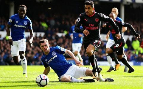 Alexis Sánchez and his Arsenal team-mates were rampant at Goodison ParkCredit: Getty Images