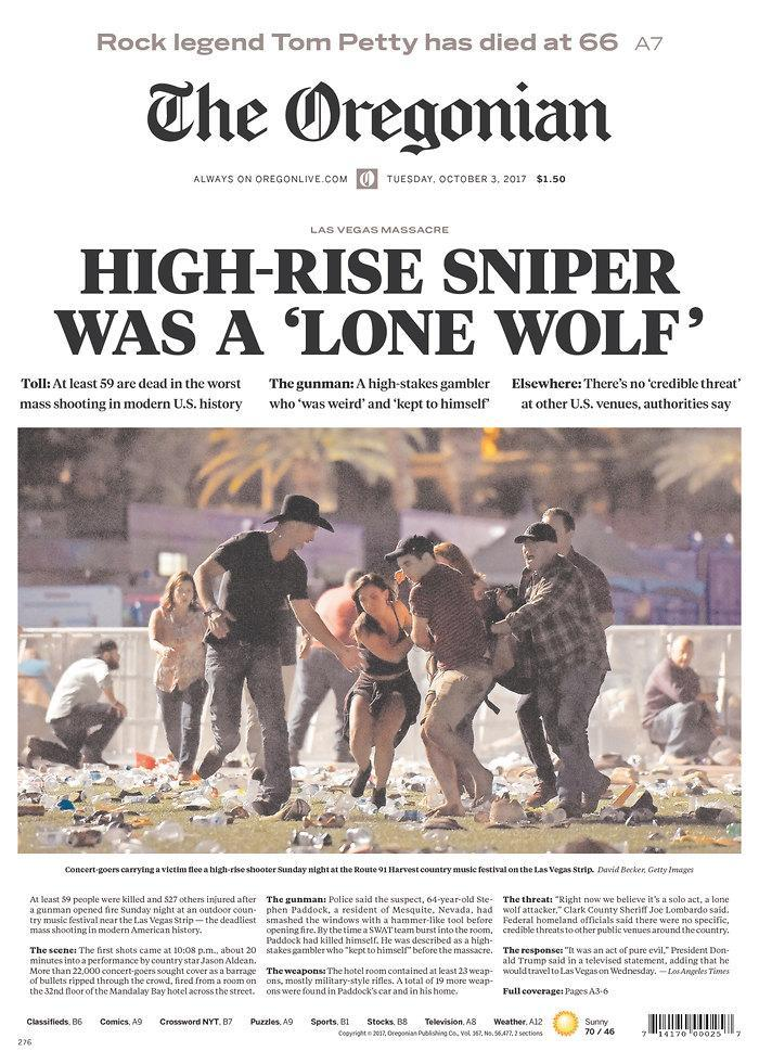 """<p>""""The Oregonian,"""" published in Portland, Ore. (newseum.org) </p>"""