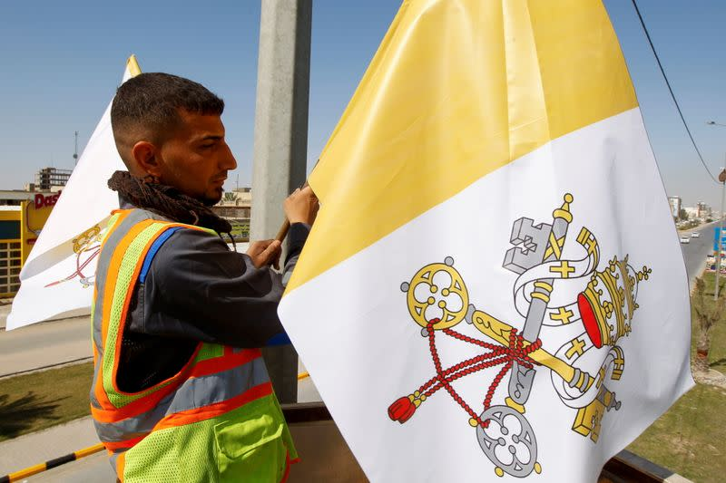 Preparations ahead of Pope Francis's planned visit in Najaf