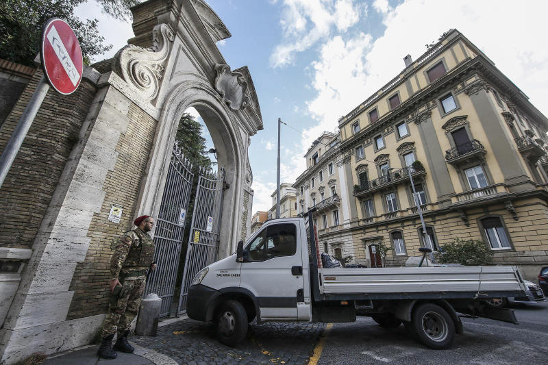 Human remains found at Vatican's Rome embassy