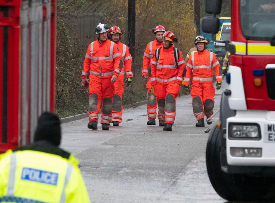 <p>Emergency services at Bristol water recycling centre</p>EPA