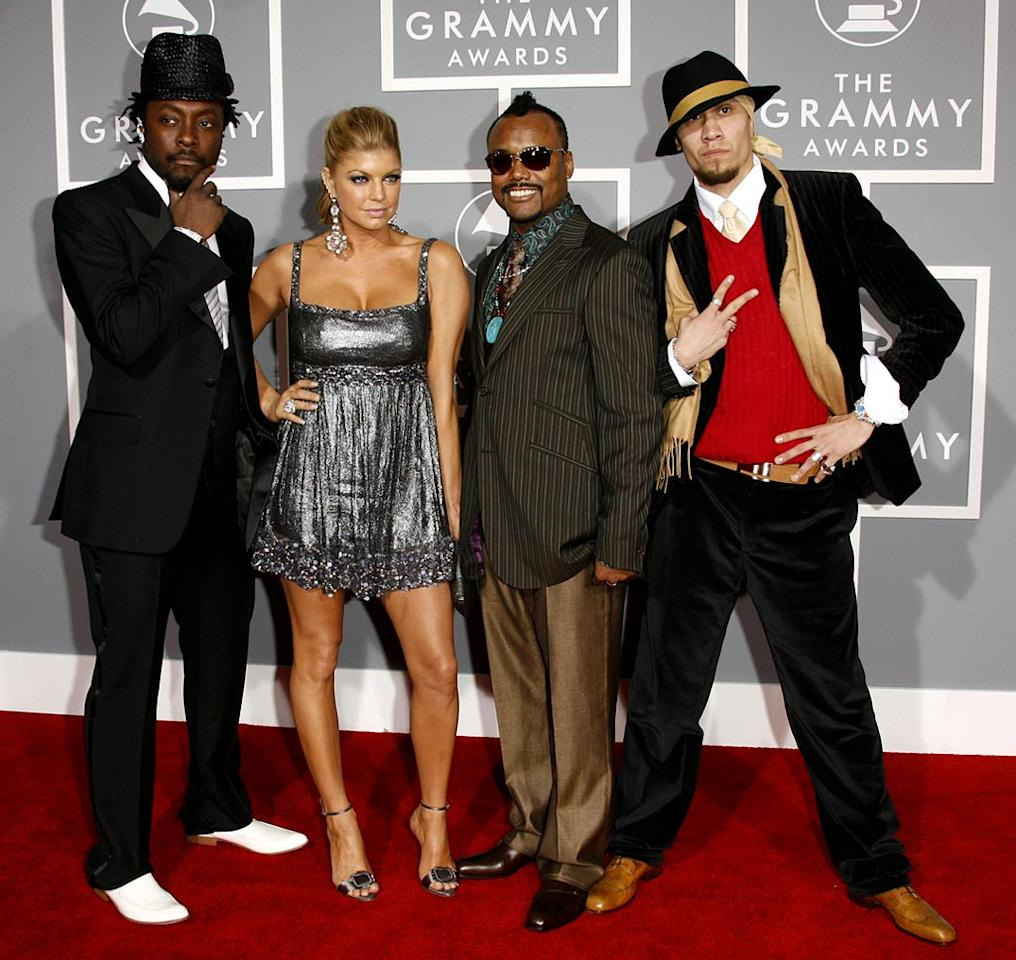 Will.i.am, Fergie, apl.de.ap and Taboo of The Black Eyed Peas at The 49th Annual Grammy Awards.